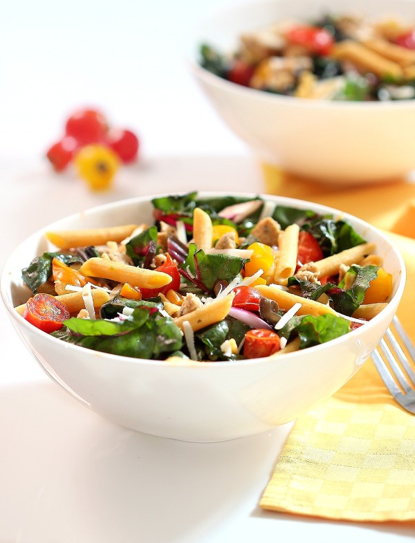 Penne with Italian Sausage and Swiss Chard by Simply Fresh Dinners