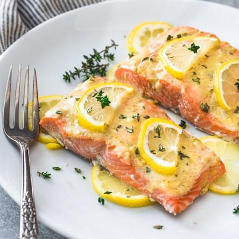 Easy Baked Lemon Dijon Salmon
