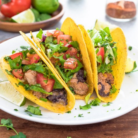 Oven Baked Turkey Black Bean Tacos