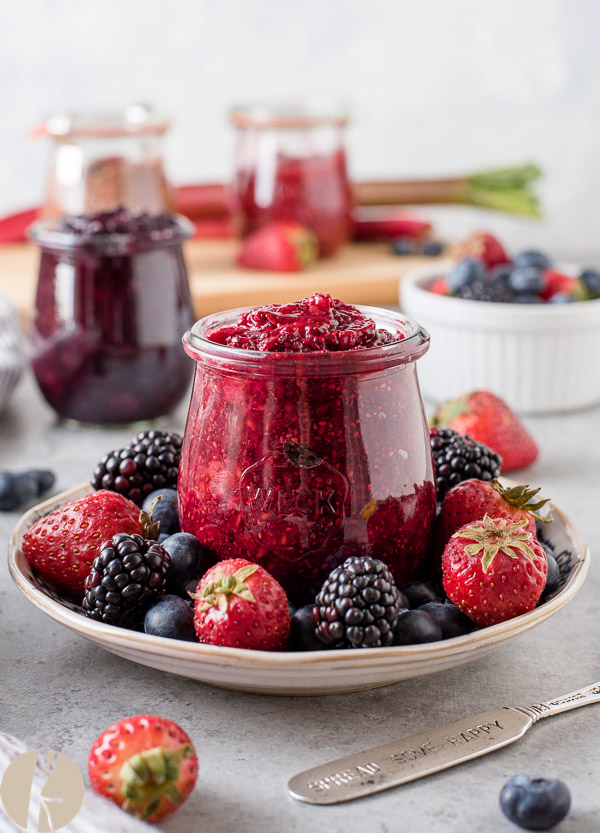 How to Make Chia Seed Jam with Any Fruit is the ultimate guide to making homemade chia seed jam with any type of fresh or frozen fruit in minutes! {GF, V}