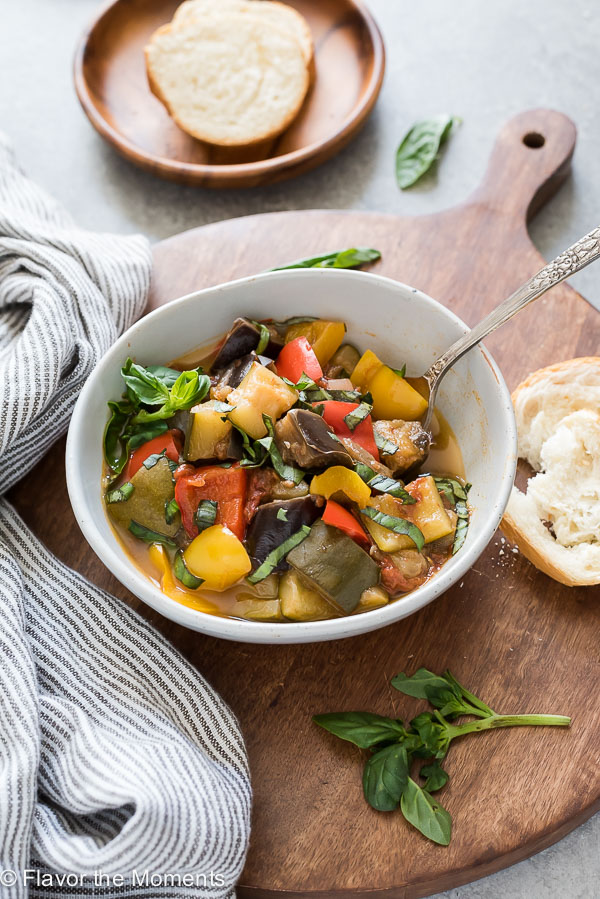 Easy Instant Pot Ratatouille is a classic french vegetable stew made with the pressure cooker in under 30 minutes!