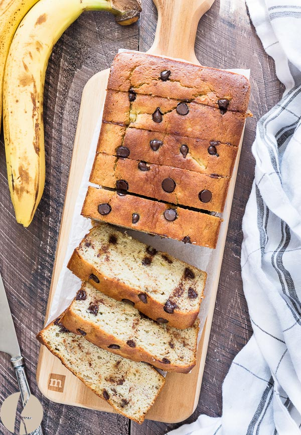 One Bowl Gluten Free Banana Bread is super moist, healthy almond flour banana bread that's completely grain free and refined sugar free!