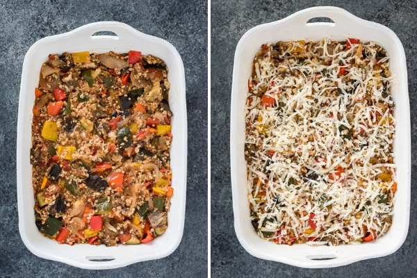 cheesy-ratatouille-quinoa-casserole-process-collage-flavorthemoments