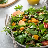 Harvest Butternut Squash Kale Salad with Farro