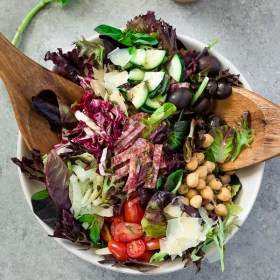 The Ultimate Italian Chopped Salad is classic chopped salad with fennel, radicchio and a fresh, flavorful, homemade Italian dressing!