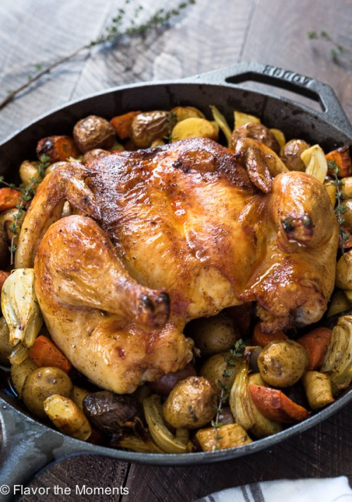 Easy Roasted Spatchcock Chicken is a simple guide on how to prep and roast spatchcock chicken in the oven. It's perfect every time!