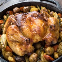 Easy Roasted Spatchcock Chicken