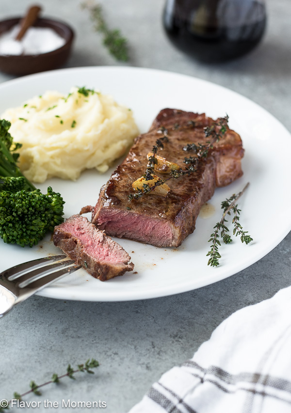 How to Cook Pan-Seared Steak is an easy, step-by-step guide on how to pan-sear the perfect steak in about 10 minutes!