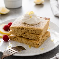 Lemon Poppy Seed Sheet Pan Pancakes