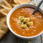 Roasted Red Pepper and Butternut Squash Soup