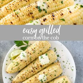 Grilled corn on the cob collage