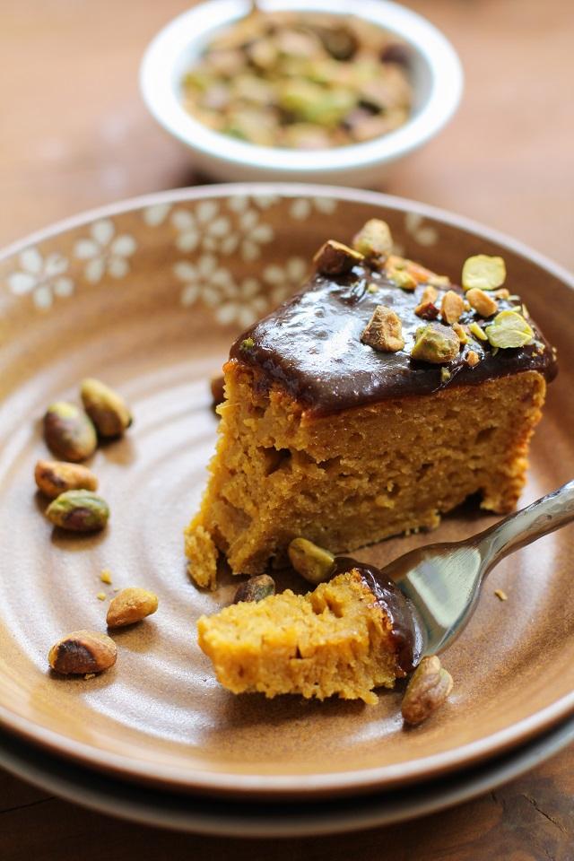 Kabocha Squash Spice Cake with Chai Caramel