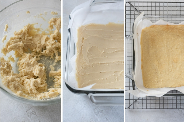process collage for key lime bar crust