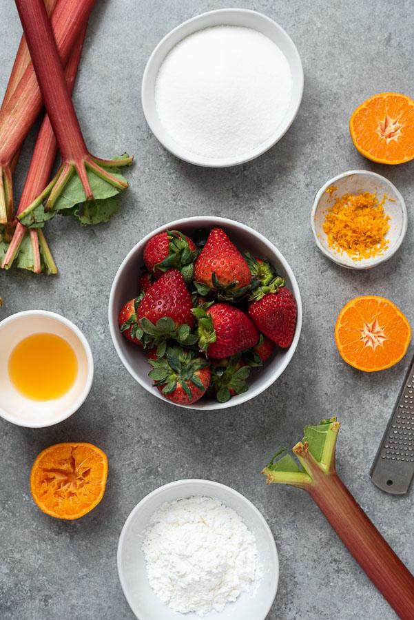 strawberry rhubarb pie filling ingredients