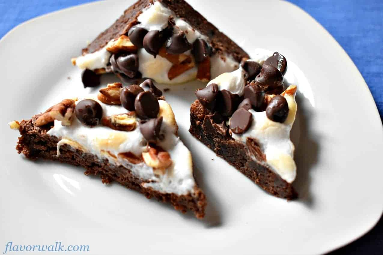 rocky road gluten-free brownies, gluten-free brownies, brownies, rocky road brownies