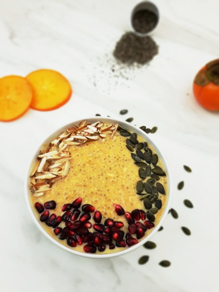 final chia persimmon porridge image
