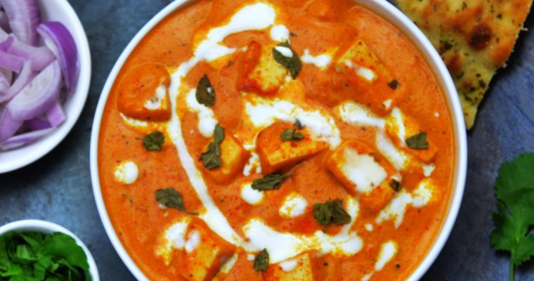 Paneer Makhani (Restaurant style recipe + Video)