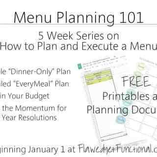 Menu Plan 101