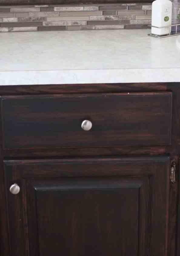 Re-Stained Oak Vanity