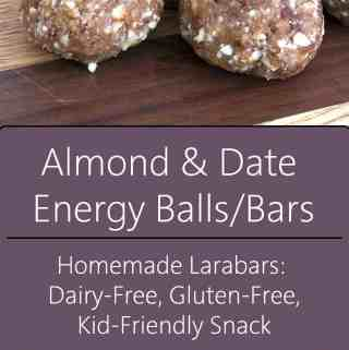 homemade almond date bars