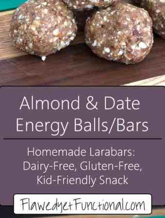 homemade almond date bars