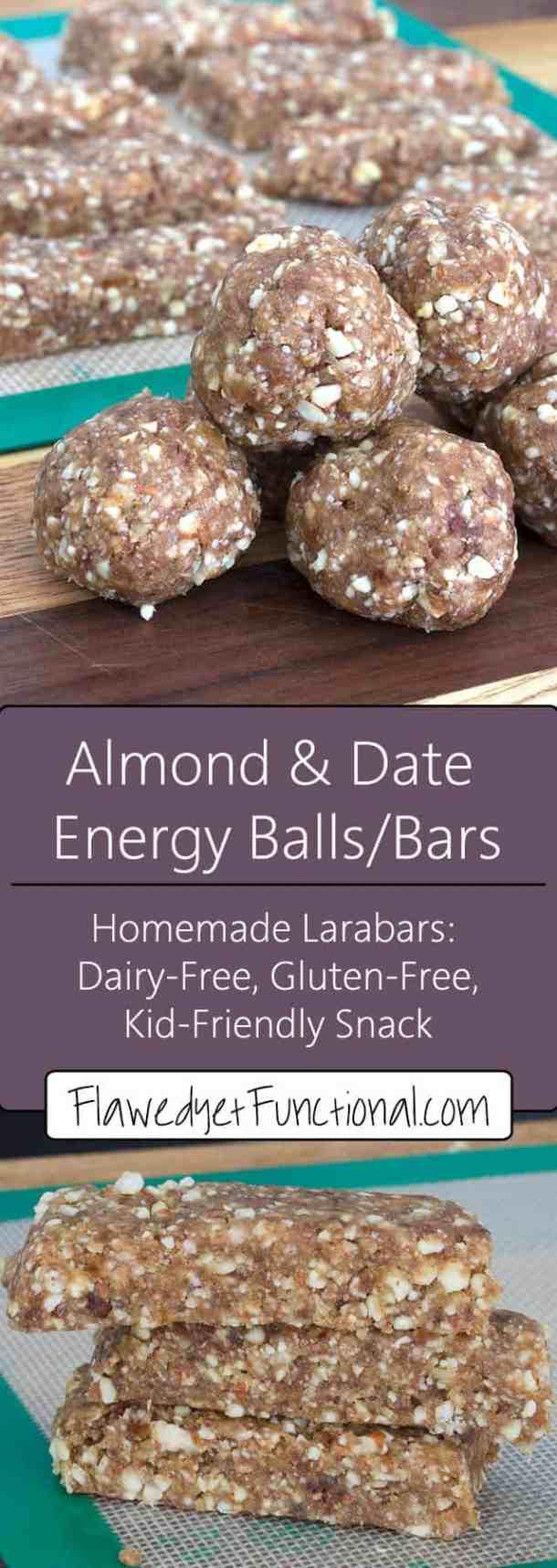 homemade almond larabar