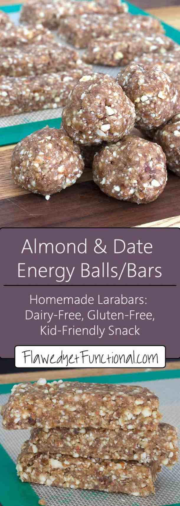 homemade almond larabar