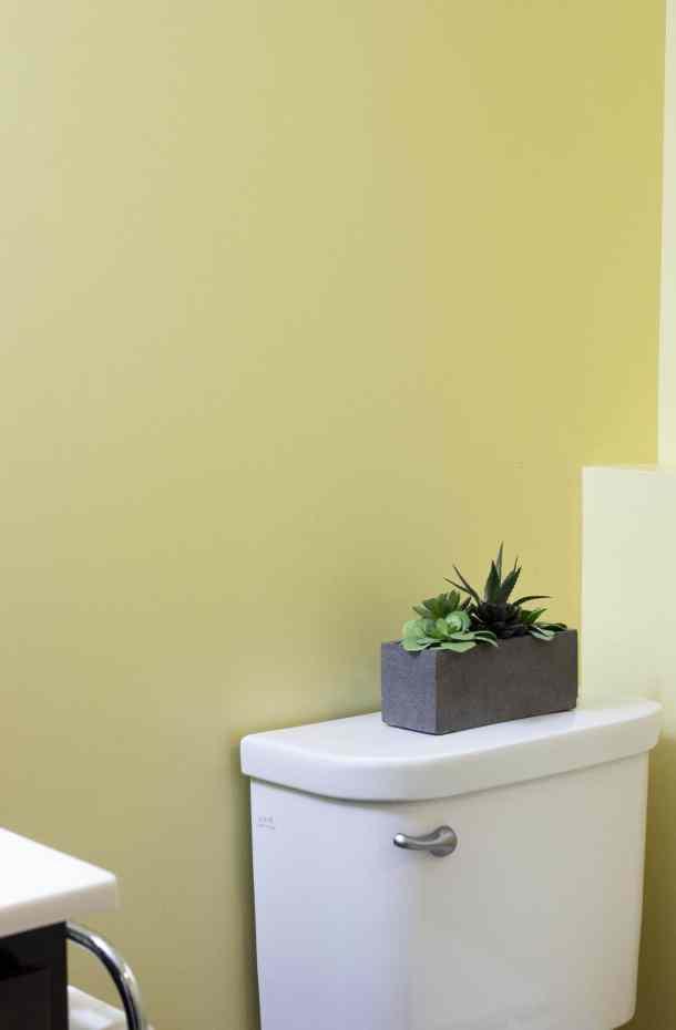 meaningful art in bathroom