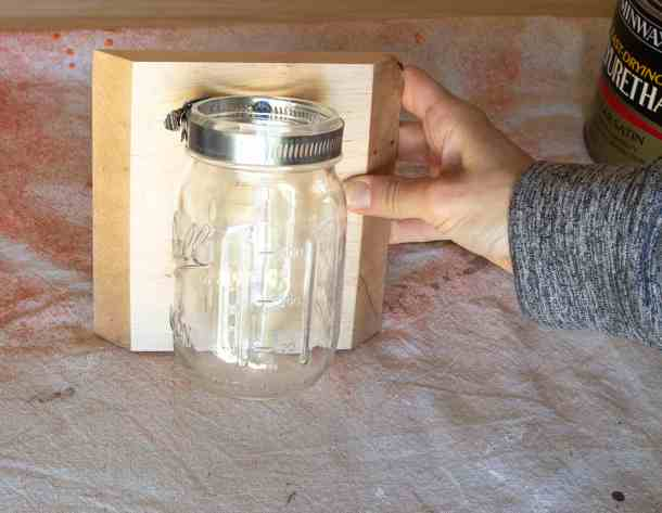 Mounted Mason Jar