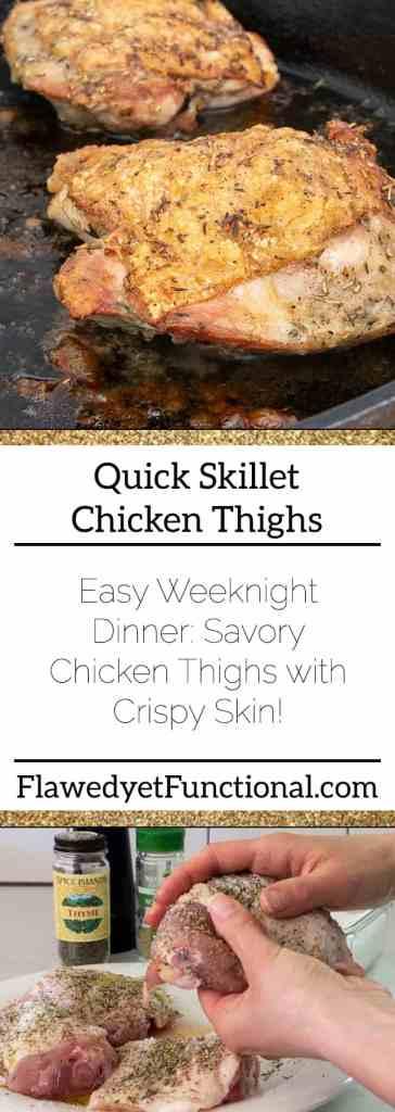 quick skillet chicken thighs