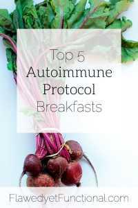 top 5 auotimmune protocol breakfasts