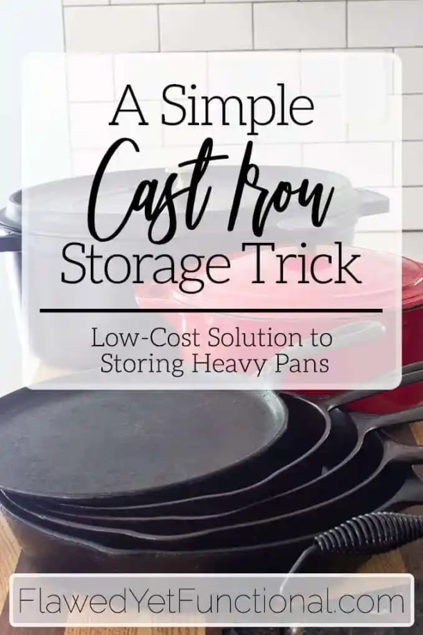 Cast Iron Pan Storage in Drawers