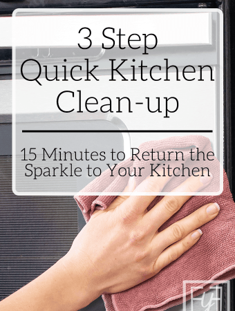 Quick Kitchen Clean-up