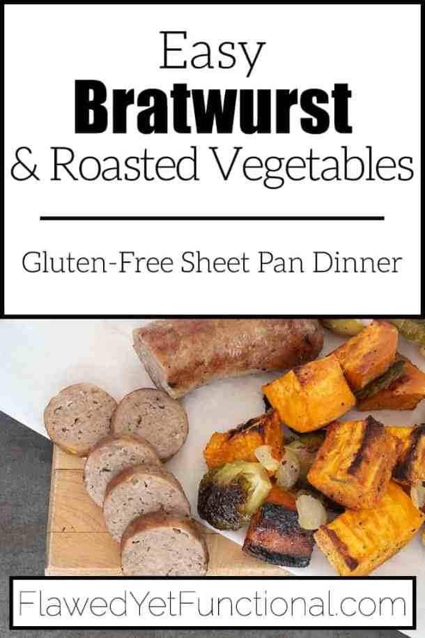sheet pan bratwurst and roasted vegetables