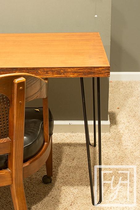 desk from a solid core industrial door