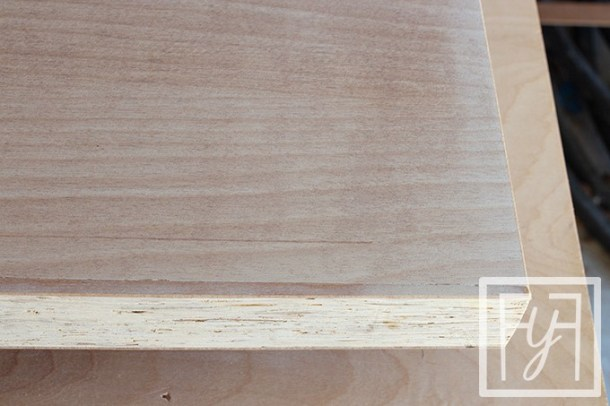 sanded Desk from a Door