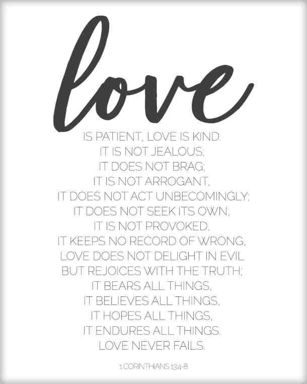 1 Corinthians 13 love is verses