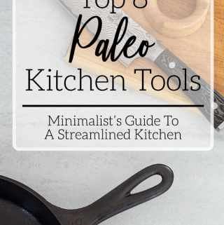 basic paleo kitchen tools knife skillet