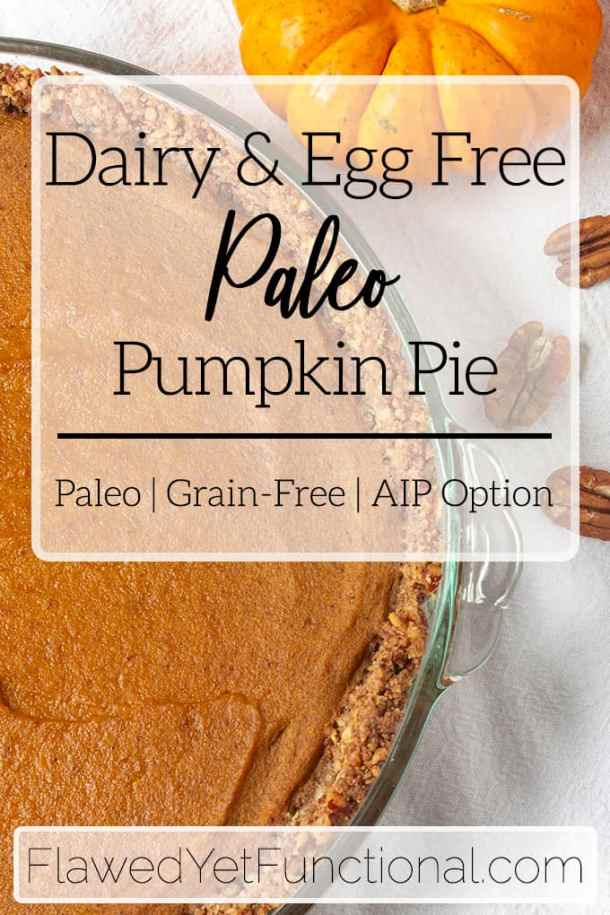 egg-free and dary-free paleo pumpkin pie