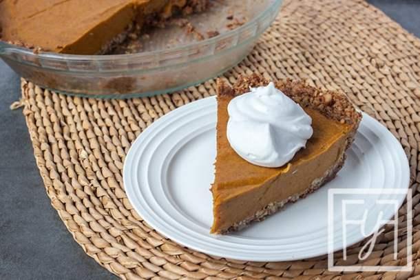egg-free and dary-free paleo pumpkin pie