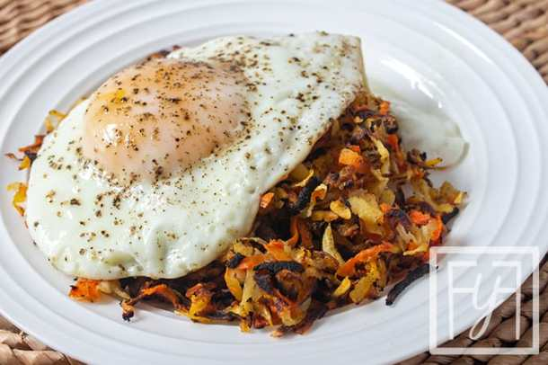 Root Vegetable Turnip Hashbrowns