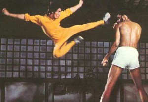 Bruce Lee Flying Kick Photo