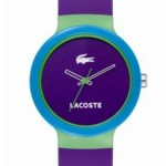 Lacoste Purple Color Block Goa Watch $95.00