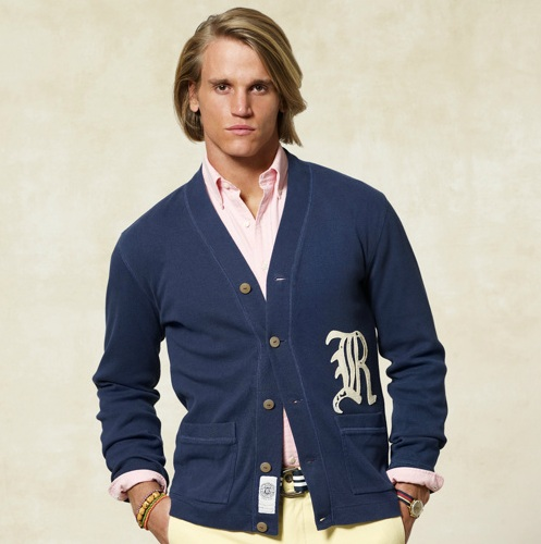 Rugby Ralph Lauren Varsity Ribbed Cotton Cardigan