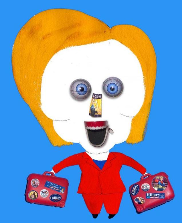 Hillary Clinton By Hanoch Piven