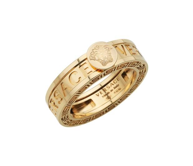 Versace Yellow Gold Medusa Head Ring