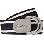 Gucci Men's Canvas And Leather Belt