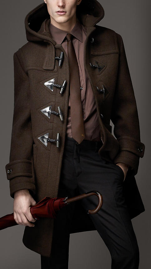 Burberry Men's Heritage Wool Duffle Coat