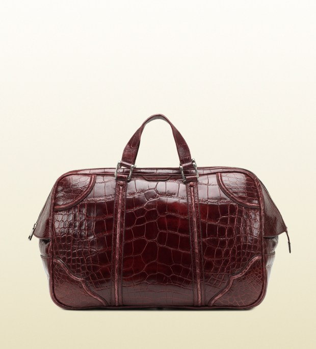 Gucci Helmut Crocodile Carry-On Men's Duffle Bag