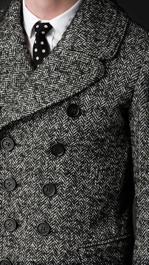 Burberry Sartorial Herringbone Top Coat